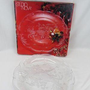 """Studio Nova Magical Eve 15"""" Glass Serving Platter"""